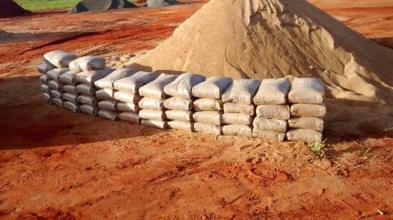 Areia Ensacada para Obras Preço no Portal do Paraíso I - Distribuidora de Areia Ensacada