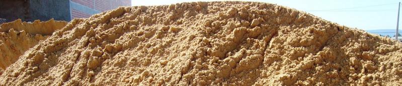 Areias Média Grossa na Chácara Paraíso - Carrada de Areia