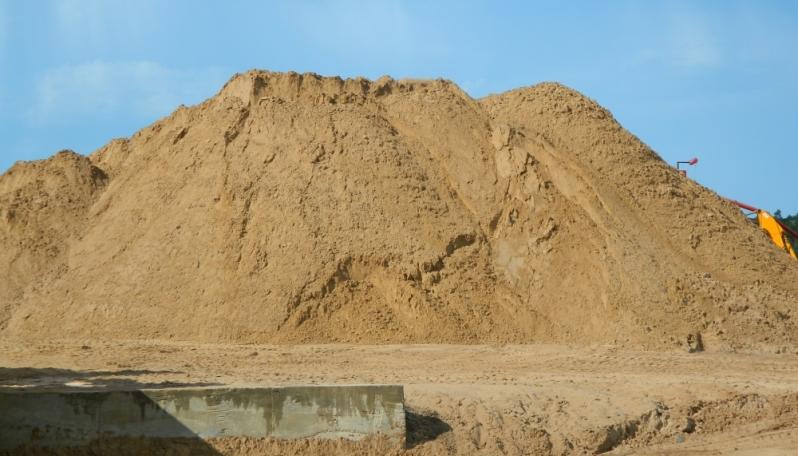 Carrada de Areia Lavada para Construção em Traviú - Carrada de Areia Lavada