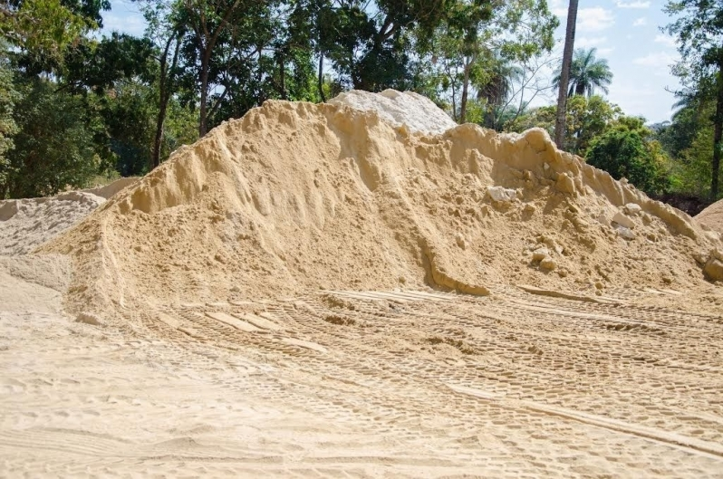 Carradas de Areia Grossa para Construtoras no Vale das Garças - Carrada de Areia Lavada