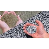 areia e pedra moída em Sousas Park