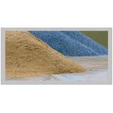 areia e pedra para construção