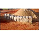 areia ensacada para obras preço na Vila Rami
