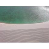 areia fina branca
