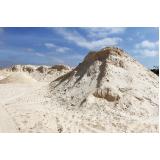 areia lavada para construção