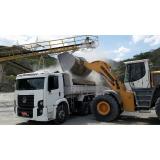 caminhão de areia lavada