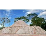 areia para construção ensacada