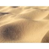 areia de construção peneirada