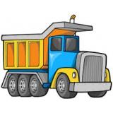 caminhão de areias lavadas no Núcleo Residencial Rosália IV