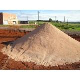 carrada de areia para construção Fazenda Três Pedras