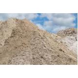 carradas de areia média no Campo Limpo