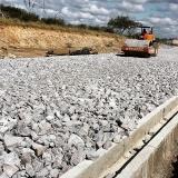 pedra para drenagem de estacionamento Fazenda Jaguari