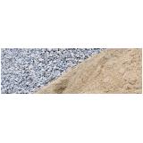 pedra e areia para concreto